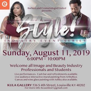 """Barbers & Cosmetologist United presents """"Style! Industry Event Series"""" @ KULA Gallery"""